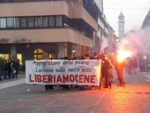 An unexpected noisy demo in Saronno